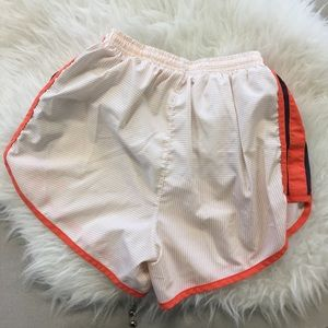 Nike Pants - Orange and White Nike Dri-Fit Running Shorts