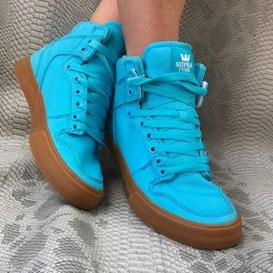 Supra Shoes - Teal blue high top Supra sneaker