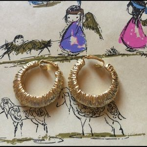 Kenneth Jay Lane Jewelry - Kenneth Jay Lane Gold Hoop Earrings