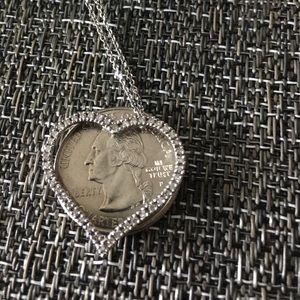 Jewelry - 14K White Gold Diamond Heart Brand New in Box