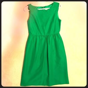 J crew emerald green dress