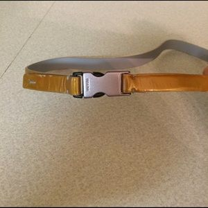 Prada Accessories - Prada patent leather color belt