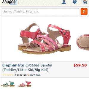 Elephantito Other - New toddler girls elephantito sandal