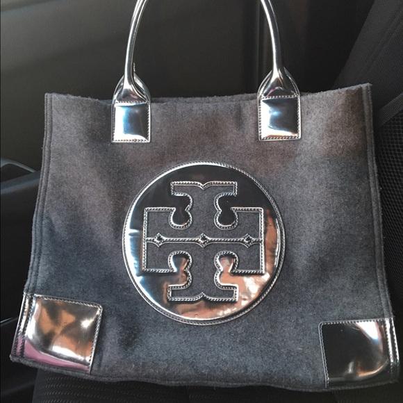 5835ffa01047 Authentic Tory Burch Leather and Flannel Ella Tote.  M 58b75f896d64bc07f4005541