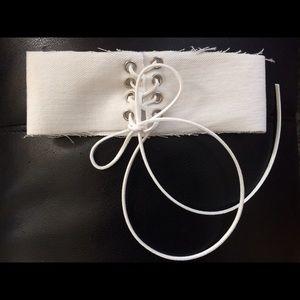 Nasty Gal Jewelry - 🆕 White Denim Corset Chokers!