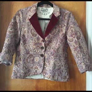 EDUN Jackets & Blazers - Edun pink denim twill brocade jacket NWT small