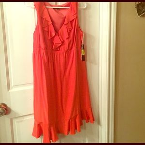 Coral Dress-perfect for summer!!