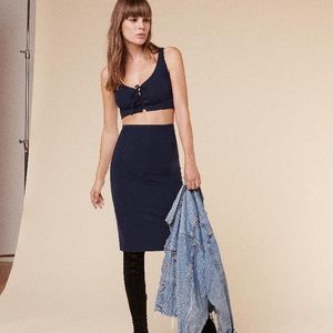 Reformation Dresses & Skirts - NWOT! Reformation Eclaire Two Piece in Navy