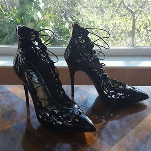 LFL Shoes - LFL Black Cutout Strappy Heel