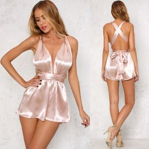 ASOS Pants - New blush satin romper
