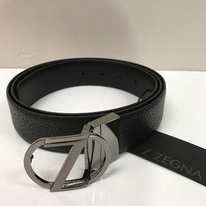 Ermenegildo Zegna Other - Zegna Leather Belt 2 sided Black