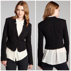 BCBGMaxAzria Jackets & Blazers - NWT BCBGMaxAzria Black Cropped One Button Blazer