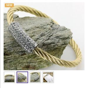 Jewelry - 18k Gold Over Sterling Silver Layered Bracelet