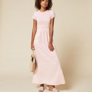 Reformation blush Cornelia dress size 8