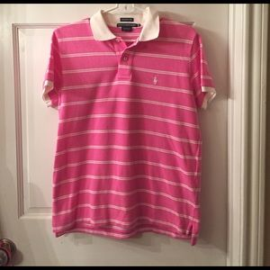 Ralph Lauren Sport Pink and White Polo