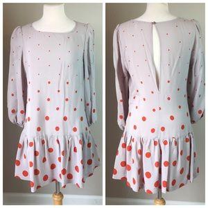 Meadow Rue Polka Dot Drop Waist Dress