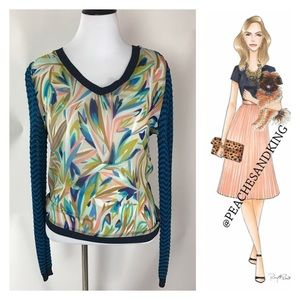 Missoni for Target Tops - Missoni for Target Blue Knit Top Size Large