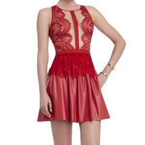 NWT BCBG MAX AZRIA LAYTON LACE DRESS RED 4