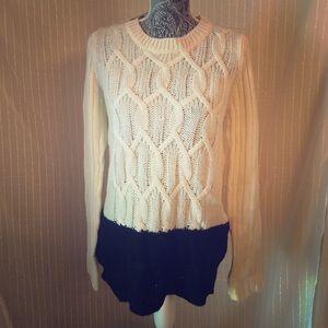 Cozy colorblock knit sweater