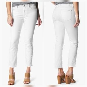 7 For All Mankind Denim - 7 For All Mankind Ankle Straight Leg White Jeans