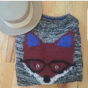 Full Tilt Sweaters - Fox Marled Knit Acrylic  Sweater
