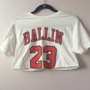 Shop Jeen Tops - BALLIN 23 CROP TOP