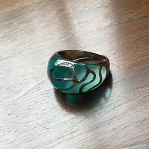 Jewelry - Sterling silver and aqua ring