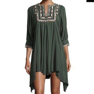 Tularosa Dresses & Skirts - Tularosa asymmetric bohemian dress, Olive green