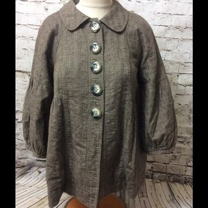 Free People Linen Jacket Lined s Small