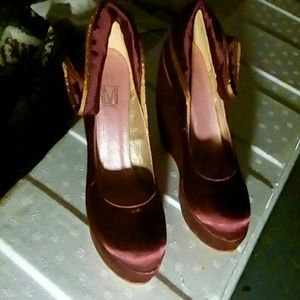 Makers of True Originals Shoes - Silky hot pink with gold trim cording along top
