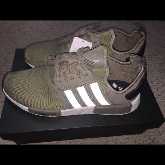 finest selection 83e6c 1c242 Adidas Olive NMDs NWT