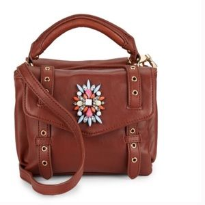 Cynthia Rowley Handbags - SALE Genuine leather posy embellished satchel🌷
