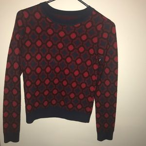 Alice + Olivia Sweaters - Patterned crew neck sweater