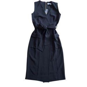Modcloth Faux Wrap Midi Trench Dress