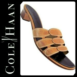 Cole Haan Shoes - Cole Haan Leather Slip On Sandals