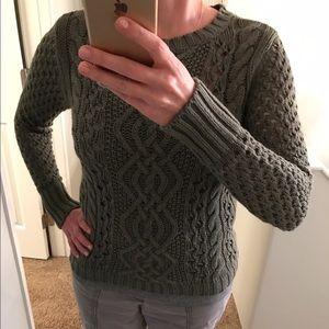 Green Crochet Sweater