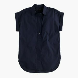 J. Crew Tops - J. Crew Cotton Short-Sleeve Popover