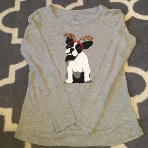 **3 for 10** NWOT sequined pup long sleeve shirt