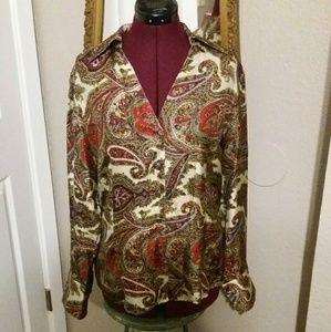 Like New Talbots 100% Silk Blouse