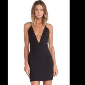 Solace London deep v and backless dress!