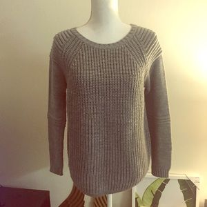 New Look Sweaters - Gray structured knit sweater