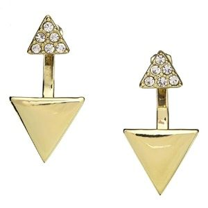 Baublebar Gold and Pave Earrings