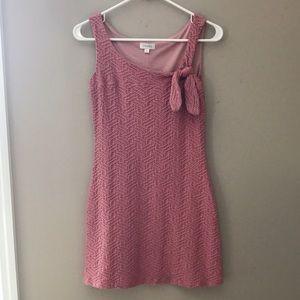 DEVAN Dresses & Skirts - Devan sleeveless nude blush textured mini dress