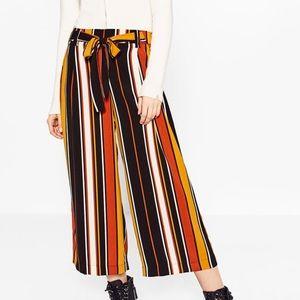 Zara Striped Culotte pant