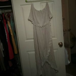 Peach love california summer maxi dress