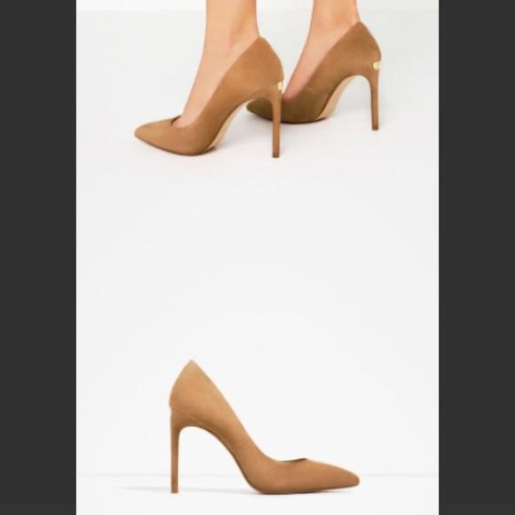 Zara Shoes | Nwt Camel Color Suede