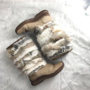 Pajar Shoes - Pajar Foxy women's rabbit and calf hair boots