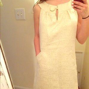 BB Dakota Dresses & Skirts - 🆕 BB Dakota gold metallic cream dress size large