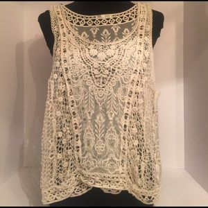 Garage Tops - Garage Bohemian Lace and Crochet Tank