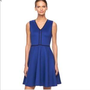 Reed Krakoff Dresses & Skirts - Reed fit & Flare scuba blue dress size XL BNWT